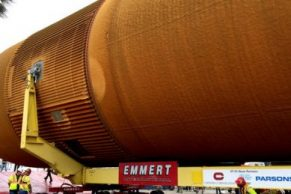 Navigating LA with 65,000 Pounds of NASA Space Shuttle History
