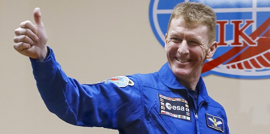 Tim Peake Touches Down at Farnborough International Airshow
