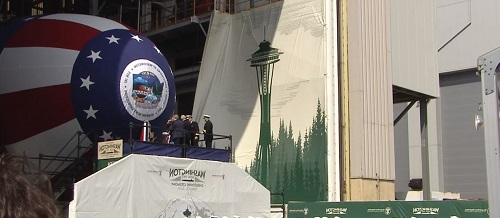 Navy Christens Submarine Washington