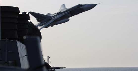 U.S. Navy ship encounters aggressive Russian aircraft in Baltic Sea