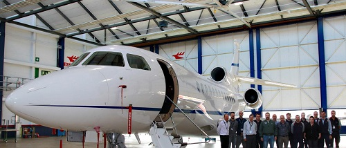 Jet Aviation Signs Agreement for its 10th C-Check on a Dassault Falcon 7X in Basel